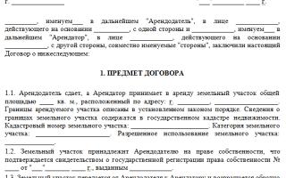 Образец договора аренды земельного участка между юридическими лицами в 2020 — особенности