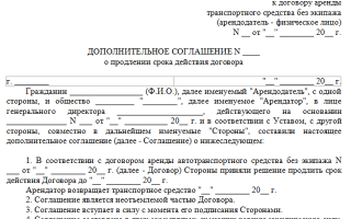 Продление (пролонгация) договора аренды нежилого помещения в 2020 — отказ, образец письма, без регистрации