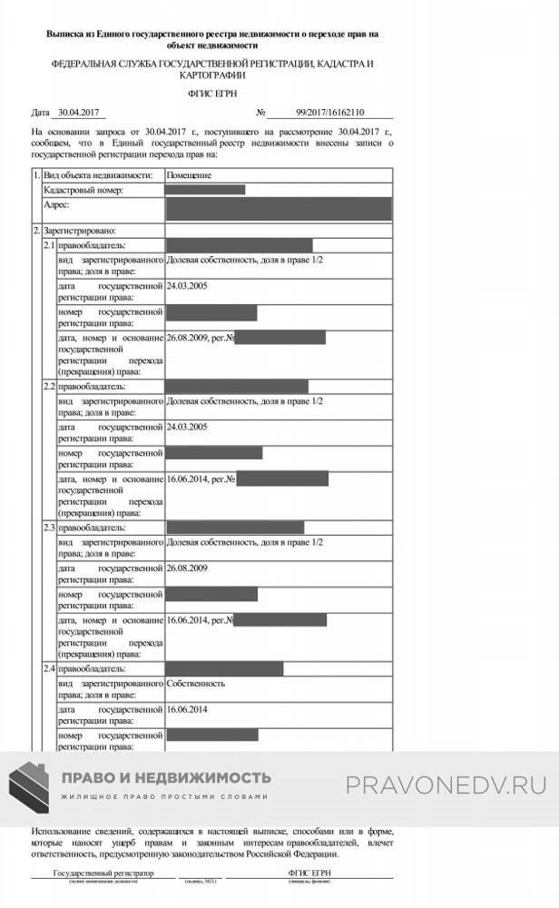 Выписка из ЕГРН на земельный участок в 2020 - образец, где получить