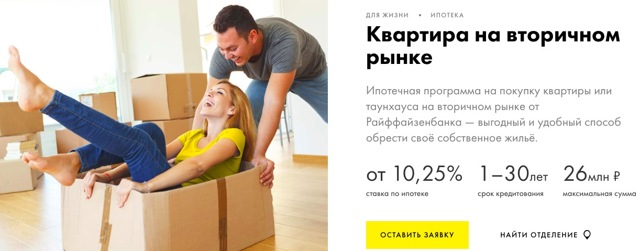 Ипотека Райффайзенбанка в 2020 - отзывы, на вторичное жилье, условия