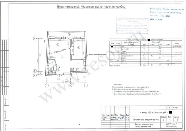 Проект перепланировки квартиры в 2020 - цена, образец